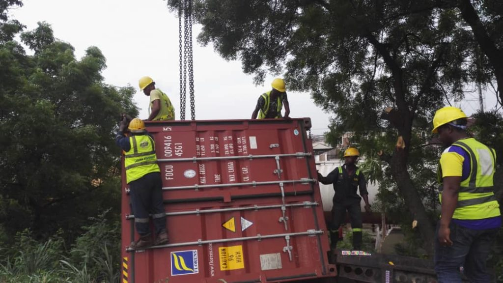 LASEMA Recovers,40feet Container Truck 4