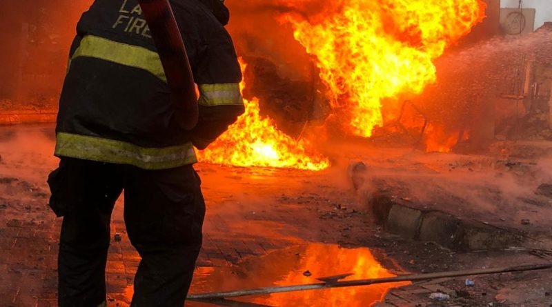 Breaking: NNPC Tanker Bursts Into Flames At Obalende 1
