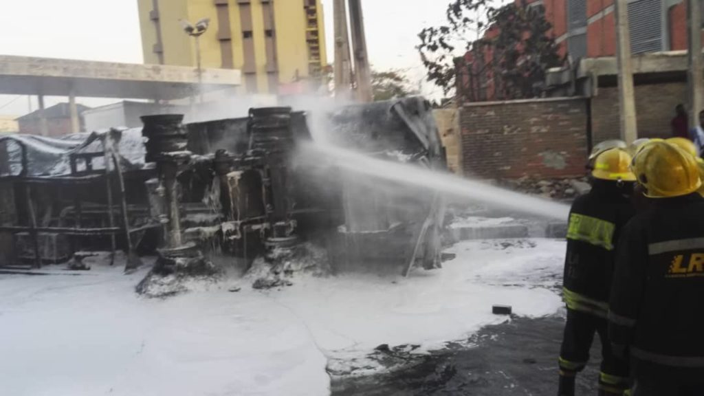 Breaking: NNPC Tanker Bursts Into Flames At Obalende 10