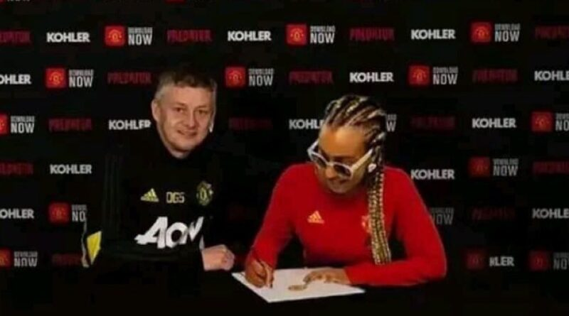 DJ Cuppy becomes Manchester United fan 1