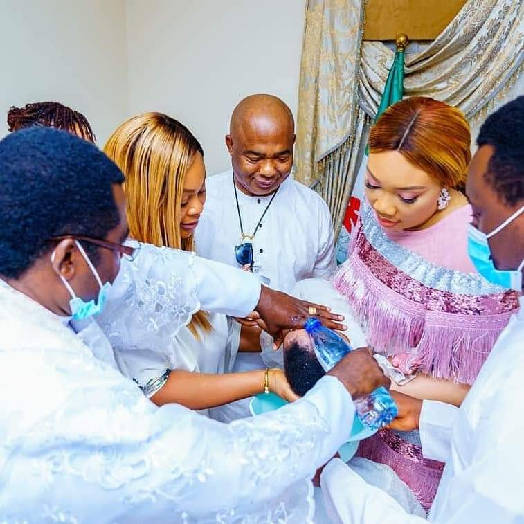 Imo State Governor Hope Uzodimma Twins Daughter's Get Baptized 7