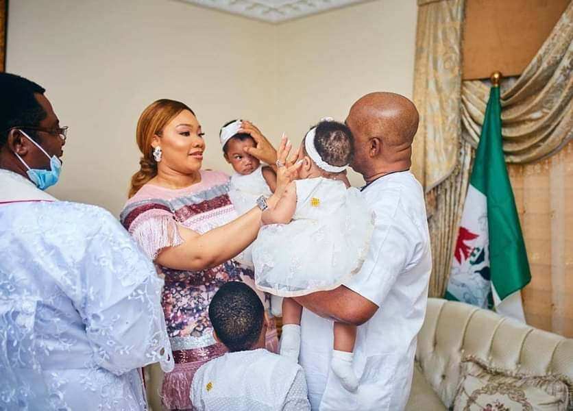 Imo State Governor Hope Uzodimma Twins Daughter's Get Baptized 8