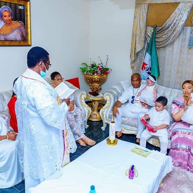 Imo State Governor Hope Uzodimma Twins Daughter's Get Baptized 5