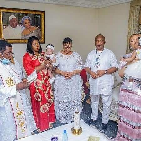 Imo State Governor Hope Uzodimma Twins Daughter's Get Baptized 4