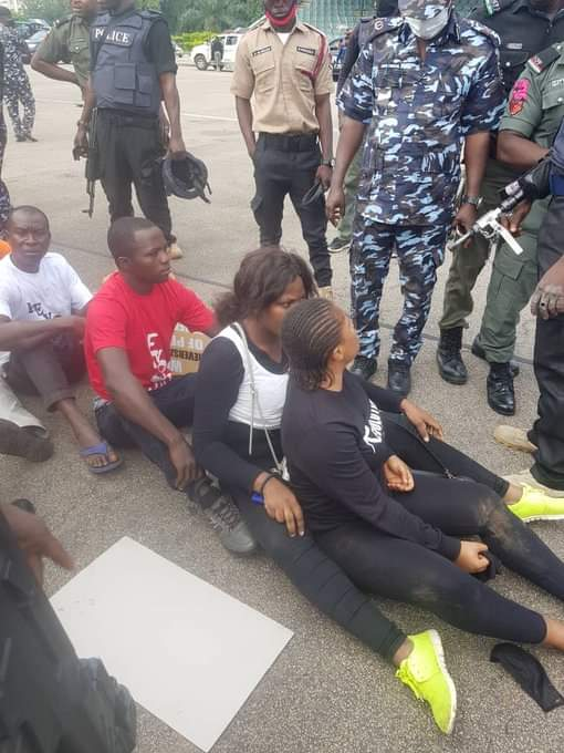 Photo News: Nigerian Security Agents Subjecting Peaceful Revolution Now Protesters 4