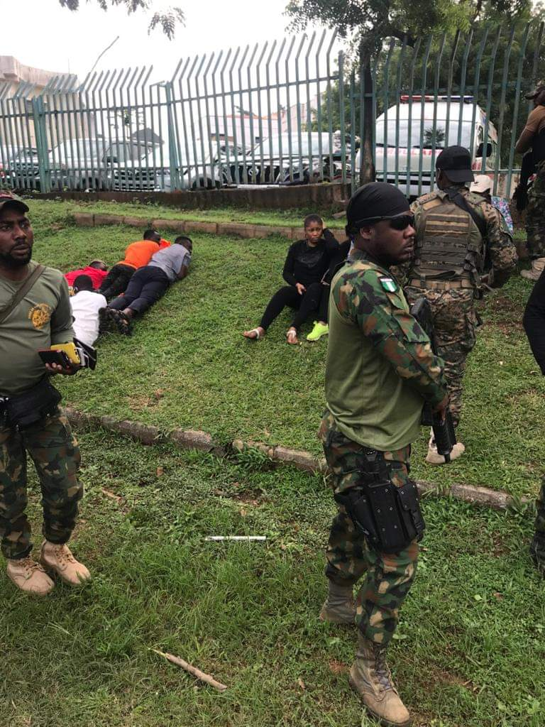 Photo News: Nigerian Security Agents Subjecting Peaceful Revolution Now Protesters 5