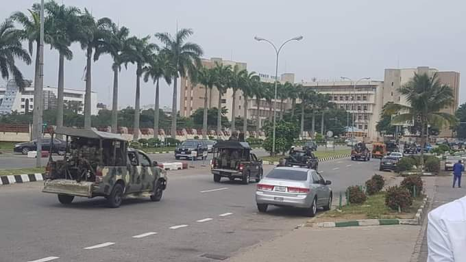 Photo News: Nigerian Security Agents Subjecting Peaceful Revolution Now Protesters 1