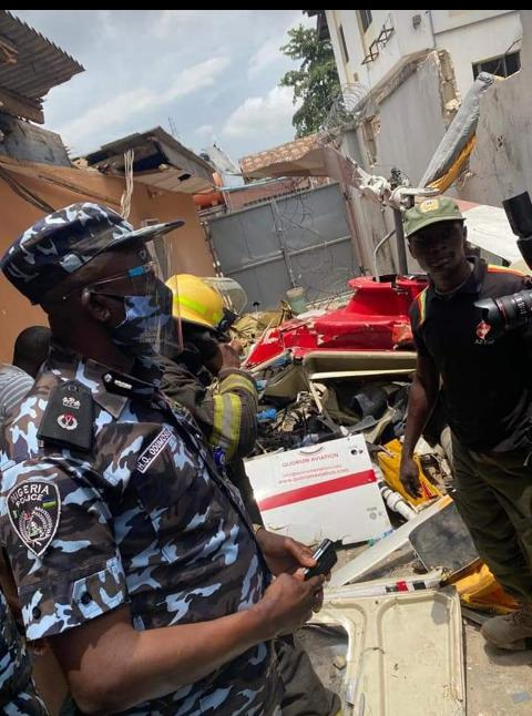Photo News: CP Odumosu Visits Crashed Helicopter Scene 3