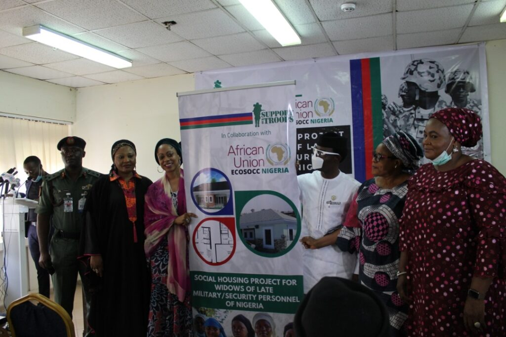 Funmi Ogbue's S.O.T Partners African Union's ECOSOCC To Deliver Housing Units To Widows Of Slain Nigerian Soldiers 5