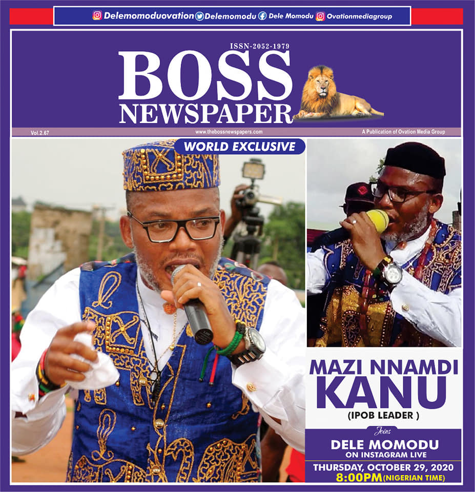 World Exclusive: Ipob Leader, Nnamdi Kanu Appears On Instagram Live With Dele Momodu 4