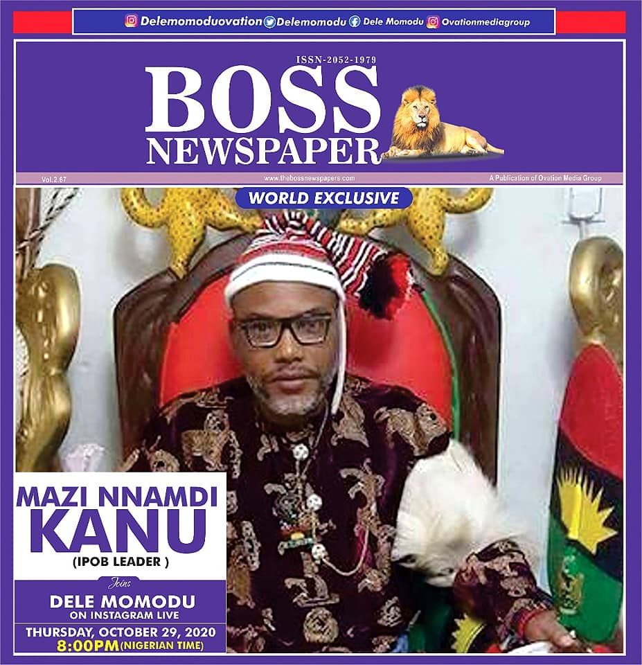 World Exclusive: Ipob Leader, Nnamdi Kanu Appears On Instagram Live With Dele Momodu 2