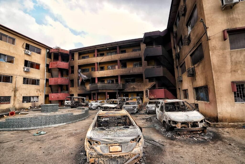Sanwo-Olu Preaches Peace As He Inspects Govt, Private Assets Destroyed In Wednesday Coordinated Attacks 5