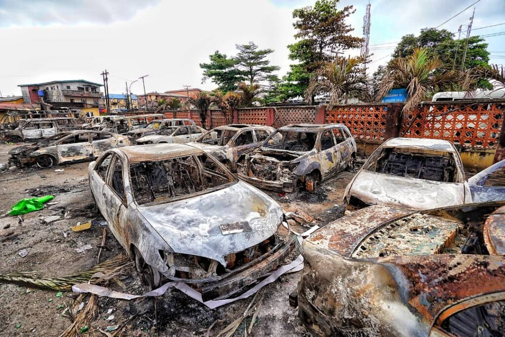 Sanwo-Olu Preaches Peace As He Inspects Govt, Private Assets Destroyed In Wednesday Coordinated Attacks 7