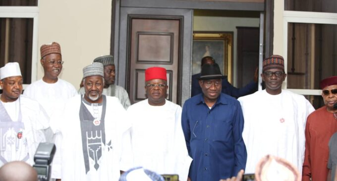 APC Governors Swoop On Jonathan Ahead Of 2023 Elections 1