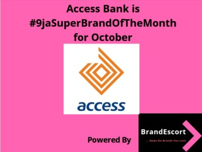 Access Bank Emerges #9ja Super Brand of The Month for October 1
