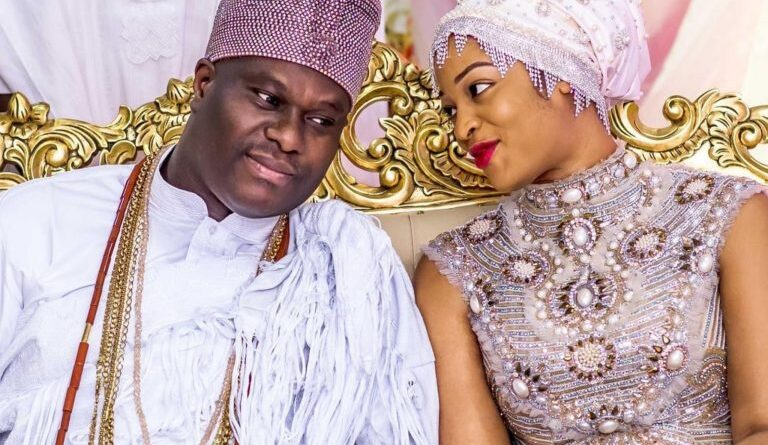 Ooni Of Ife Welcomes Prince With Wife 1