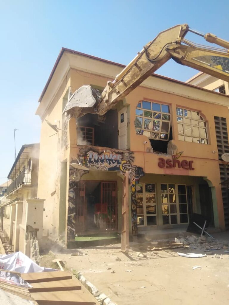 How Asher Kings & Queens Restaurant Was Demolished - Aisha Mercy Yakubu (CEO) 2