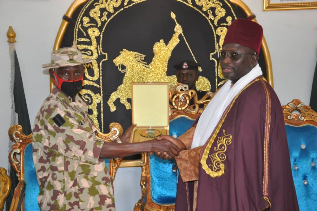 YOBE STATE TRADITIONAL COUNCIL GIVES SUPPORT TO ONGOING ARMY OPERATIONS IN THE NORTHEAST… Emir of Damaturu 2