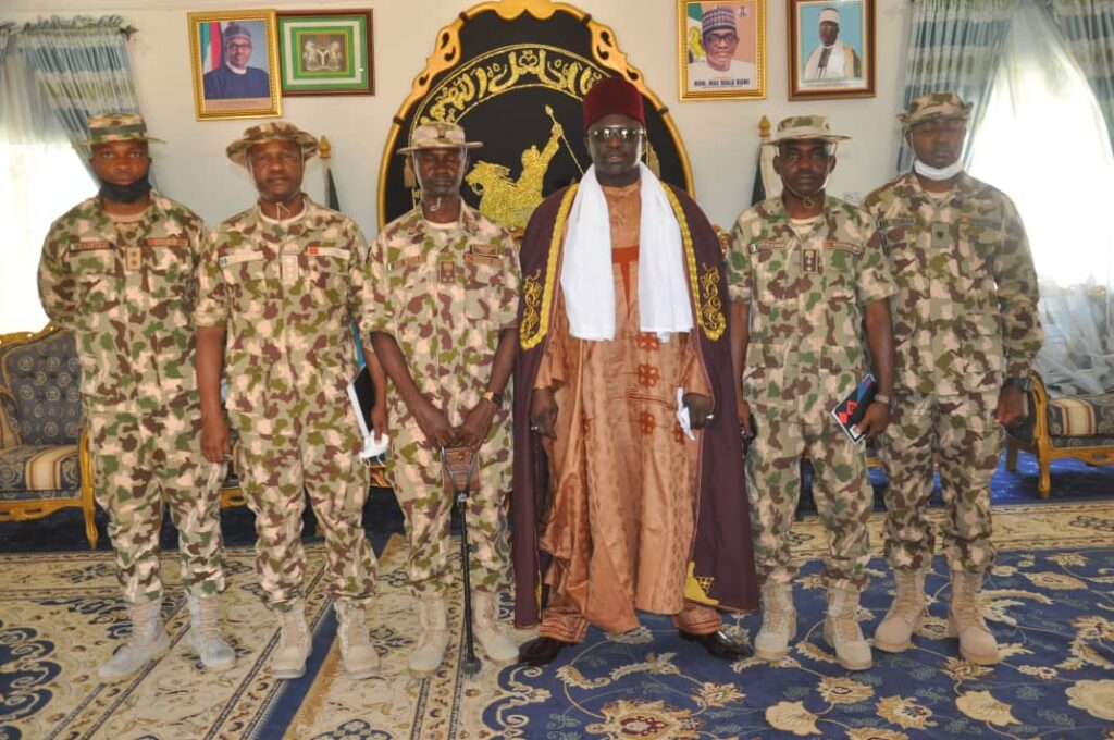 YOBE STATE TRADITIONAL COUNCIL GIVES SUPPORT TO ONGOING ARMY OPERATIONS IN THE NORTHEAST… Emir of Damaturu 3
