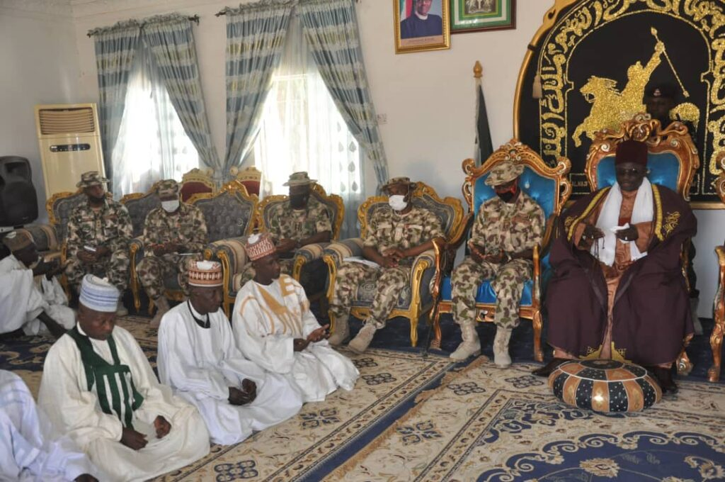 YOBE STATE TRADITIONAL COUNCIL GIVES SUPPORT TO ONGOING ARMY OPERATIONS IN THE NORTHEAST… Emir of Damaturu 4