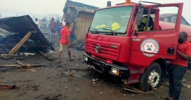 Fire Guts Okobaba Sawmill Market. Lagos State Fire Service saves Situation 3