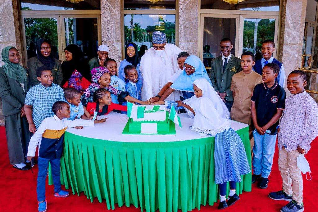 Children's Day: Buhari Celebrates With Visiting Children At State House 2