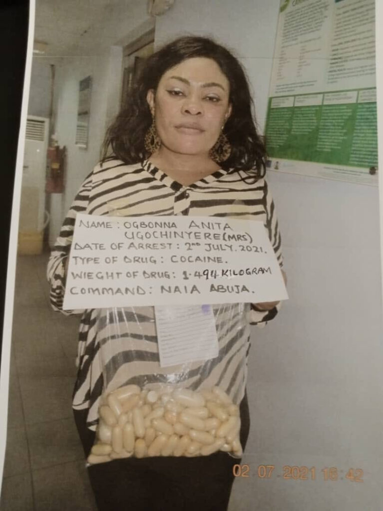 NDLEA Nabs Nigerian Mum-of-3 With 100 Wraps Of Cocaine In Her Private Part 2