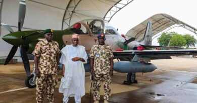 NAF Aircraft: Minister Of Defence Leads Parade To Receive Newly Arrived A-29 Super Tucano Aircraft 4